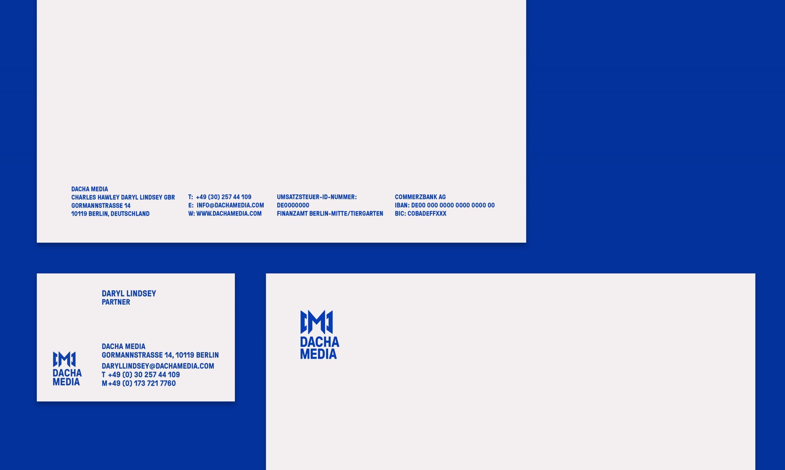 Startling Brands Dacha Media Branding Logo Design Visual Identity Berlin Translation Journalism