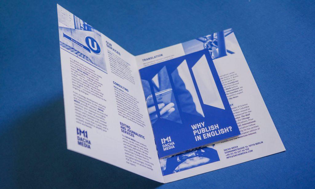 Startling Brands Dacha Media Branding Logo Design Visual Identity Berlin Translation Journalism