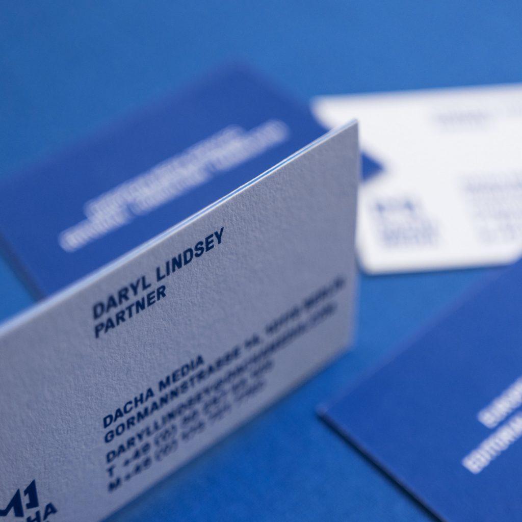 Startling Brands Dacha Media Branding Logo Design Visual Identity Stationery Brochures Berlin Translation Journalism